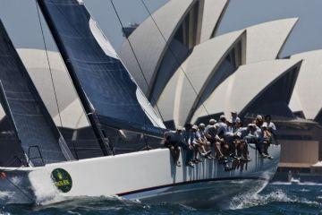 a Rolex Sydney Hobart jachtverseny startjára készülve